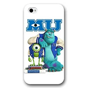 Customized White Disney Cartoon Monsters University iPhone 4 4s case