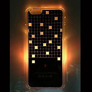 WQQ Sense Square Pattern Hard Case with Call Flash Light for iPhone 6
