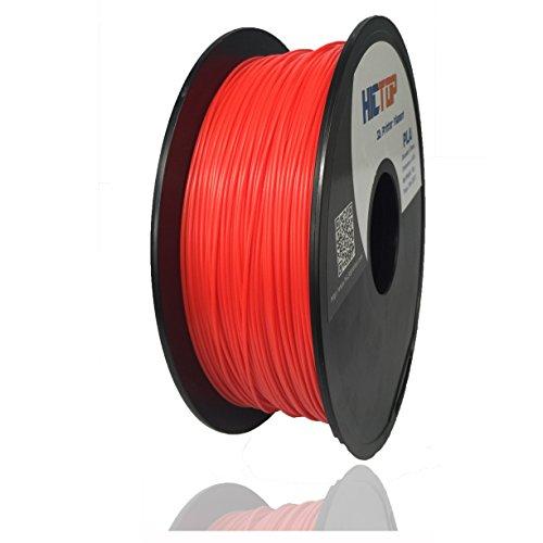 HICTOP 1.75mm PLA Imprimante 3D Filament – 1 kg Spool (2,2 lb) – Précision dimensionnelle +/- 0,05mm (Rouge)