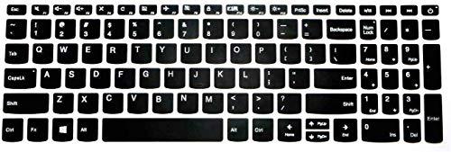 Saco Keyboard Protector Silicone Skin Cover for Lenovo V15 Laptop – Black
