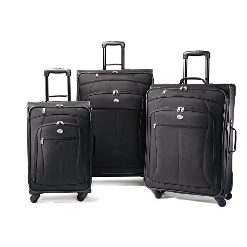 American Tourister Luggage AT Pop 3 Piece Spinner Set, Black, 29/25/21