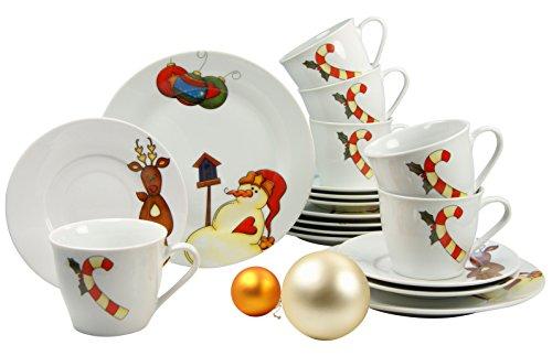 Creatable 19257 Kaffeeservice 18-teilig, Classic Merry Christmas