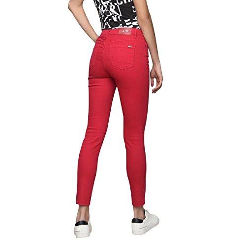 Skinny Armani Rouge 1429 3zyj10 Exchangejean Y2hcz Femmes F5A5wZq6