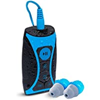 Waterfi 8GB Waterproof MP3 Player and FM Radio Swim Kit with Waterproof Short Cord Headphones - NEW VERSION plays iTunes Files (AAC, M4A)