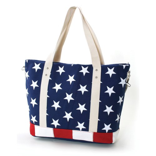 Price comparison product image Stars and Stripes USA Flag Canvas Tote Bag