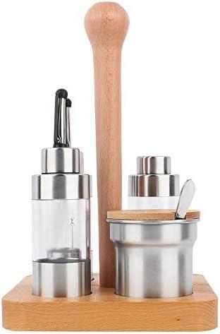 Round Jeffergarden Set di barattoli per Uso Domestico Bottiglia per condimento Serbatoio per Pepe Bottiglia per Peperoncino Strumento per Cucina in Acciaio Inossidabile