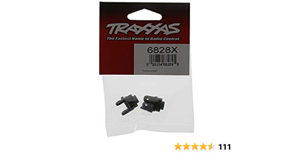 pair White Traxxas 4628 Nylon Differential Output Yokes