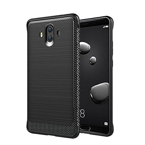 Huawei Mate 10 Carcasa, JIEXUN Negro Silicone soft funda ...