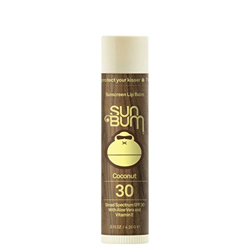 Sun Bum Coconut Sunscreen Lip Balm, SPF 30, 0.15 oz Stick, 1 Count, Broad Spectrum UVA/UVB Protection, Hypoallergenic, Paraben Free, Gluten Free, Vegan (0.15 Ounce Balm)