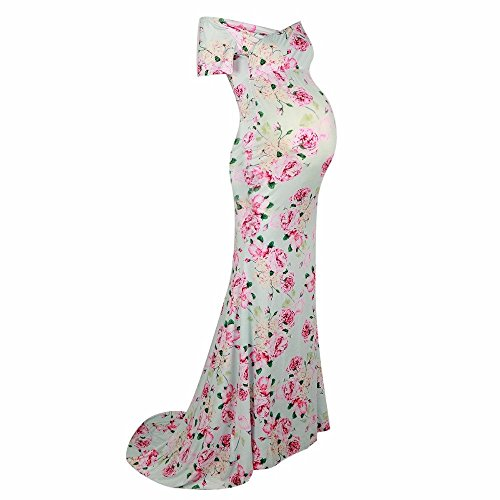 ff4a083bd7276 Labu Store Nursing Maternity Clothing Photography Props Woman Maxi Dress  Floral Long Length Clothes for Pregnant