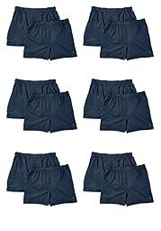 Joseph Abboud Men\'s 6 Pack & 12 Pack Fine Cotton Classic Boxers (Large (36-38), Bonus Pack of 12 - Carbon Grey)