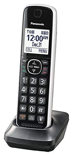 Panasonic Dect 6.0 Digital Additional Cordless Silver Handset for KX-TG885SK Cordless Phone System - ()
