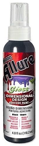 Gloss Dimensional - E6000 57070419 719C Allure Gloss Dimensional Adhesive Paint, Black, 4 fl. oz.