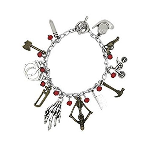 Blue Heron The Walking Dead 10 Logo Charms Toggle Clasp Bracelet w/Gift Box ()