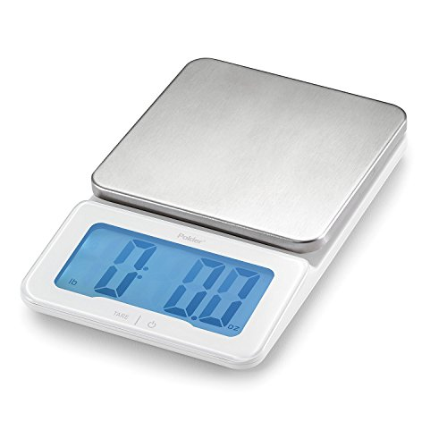 Polder KSC-940-90 Mini-Jumbo Digital Kitchen Scale with Backlit Display, 11-Pound (5 kg.) (Jumbo Postage)