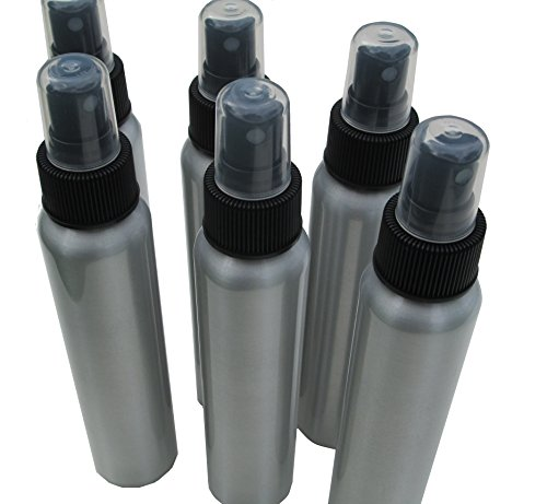 4oz Bullet-style Aluminum Fine Mist Spray / Atomizer Bottles: 6-pack