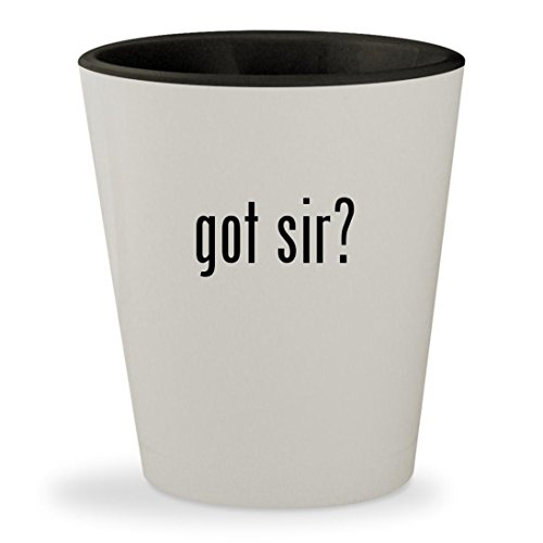 got sir? - White Outer & Black Inner Ceramic 1.5oz Shot - Thomas Browne Glasses