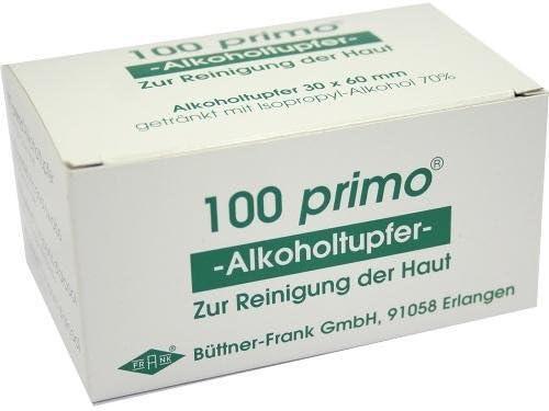 Primo torundas de algodón con alcohol 100 ST: Amazon.es: Hogar