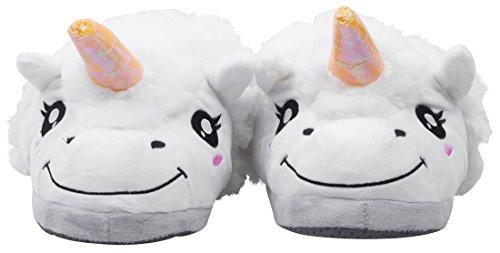 VENKON - Chaudes Pantoufles en Peluche dans le Design Licorne Fabuleux - Taille Unique pour les Enfants (environ 28 à 35)