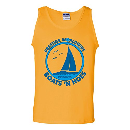 UGP Campus Apparel Prestige Worldwide Presents Boats 'n Hoes - Funny Summer Tank Top - 2X-Large - Gold ()