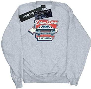 Absolute Cult Supernatural Herren Driver Picks The Music Sweatshirt Sport Grau Medium