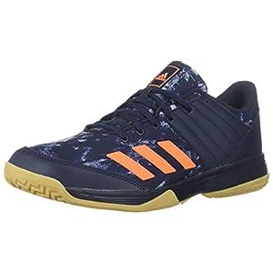 adidas Performance Men's Ligra 5 Volleyball Shoe, Legend Ink/Hi-Res Orange/Grey Two, 12.5 M US