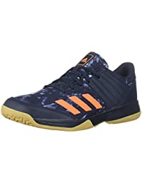 Men's Ligra 5 Volleyball Shoe, Legend Ink/Hi-Res Orange/Grey Two, 7 M US