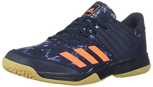 adidas Performance Men's Ligra 5 Volleyball Shoe, Legend Ink/Hi-Res Orange/Grey Two, 12.5 M US
