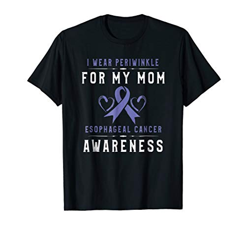 Periwinkle Ribbon TShirt Esophageal Cancer Awareness For Mom