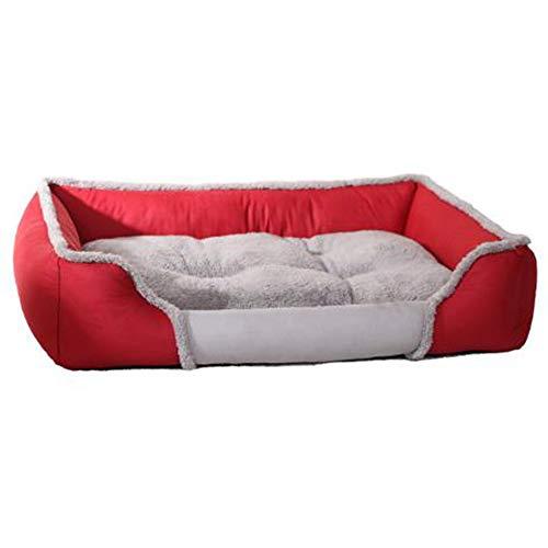 Camas para mascotas medianas/pequeñas/grandes perros primavera, verano, otoño e invierno camas para gatos lavable,Red,XL