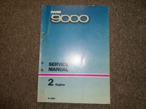 Used, 1986 Saab 9000 2 Engine Service Repair Shop Manual for sale  Delivered anywhere in USA
