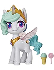 My Little Pony E9107 Magical Kiss Unicorn Princess Celestia, Interactive Unicorn Figure with 3 Surprises -- Musical Kids Toy that Moves, Lights Up