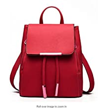 Women Convertible Business/Travel Leather Backpack/Handbag-Red