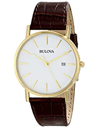 Bulova Men's 97B100 Strap White Dial Watch