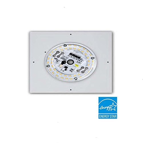Ceiling To Ceiling / Wall LED Fixture Retrofits | EOS Array With 8'' Square Aluminum Heat Sink | 15W, 1400 Lumens, 4000K | 50,000 Hours of Life | Equivalent To 100W Incandescent | UL Certified by Texas Fluorescents