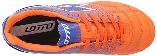 Lotto Spider 700 Xiii Fgt Jr, Botas de Fútbol Unisex Bebé Naranja / Azul (Fant Fl / Blu Shv)