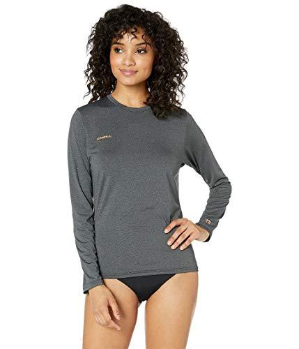 O'Neill Wetsuits Women's Hybrid UPF 50+ Long Sleeve Sun Shirt, Black, Small