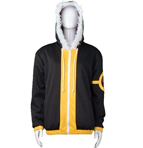 NSOKing Anime Frisk Fellsans Cosplay Costume Jacket Hoodie Coat (Small, Black)
