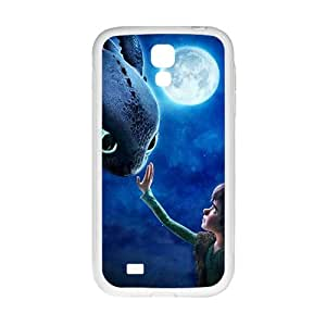 GKCB Moon night fish and boy Cell Phone Case for Samsung Galaxy S 4