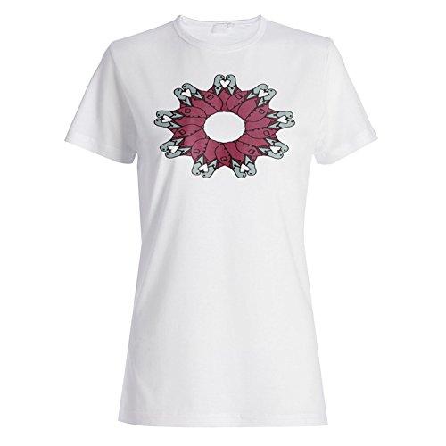 Arte Hermoso Del Amor Del Pájaro camiseta de las mujeres o205f