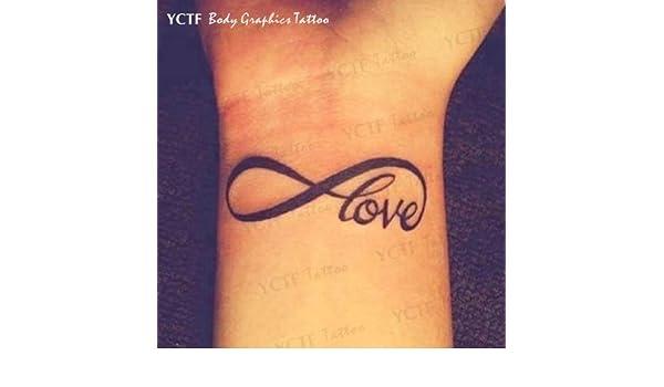 Oottati 2 Hojas Letras Inglesas Amor Tatuajes Temporales TF101 ...