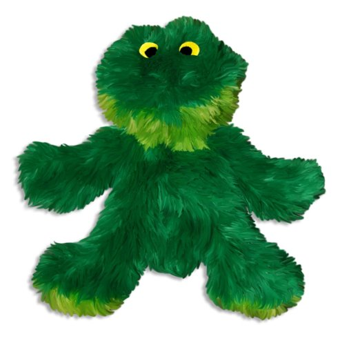Dog Frog Plush (KONG Plush Frog Toy, Small, Green)