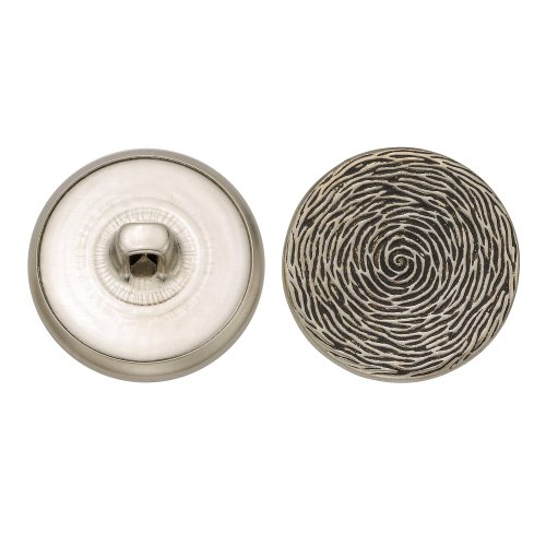 C&C Metal Products 5261 Tree Rings Metal Button, Size 36 Ligne, Antique Nickel, 36-Pack by C&C Metal Products Corp