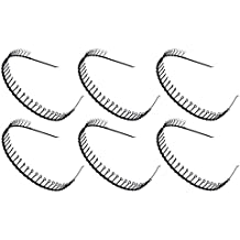 STHUAHE 6 PCS Unisex Black Metal Teeth Comb Hair Hoop Hairband Headband Hair Accessories by Beauty hair (6 Black)