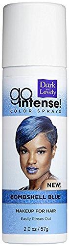 Dark and Lovely Go Intense Color Spray, Blue Bombshell, 2 oz (Pack of 2) (Dark And Lovely Go Intense Color Spray)