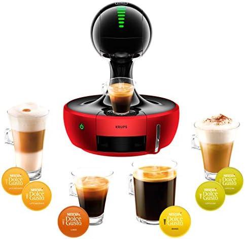 Krups YY2501FD Machine à Café à Capsules Nescafé Dolce Gusto Drop - Automatique - Qualité Professionnelle - Pression 15 Bars - Interface Tactile - Large Choix de Boissons Chaudes et Froides