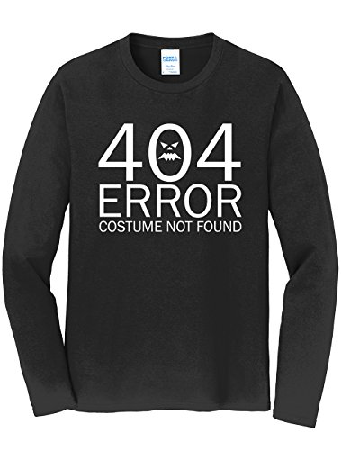 Dancing Participle Men's 404 Error Costume Not Found Long Sleeve T-Shirt, 3X-Large, Black - 404 Error Costume Not Found Image