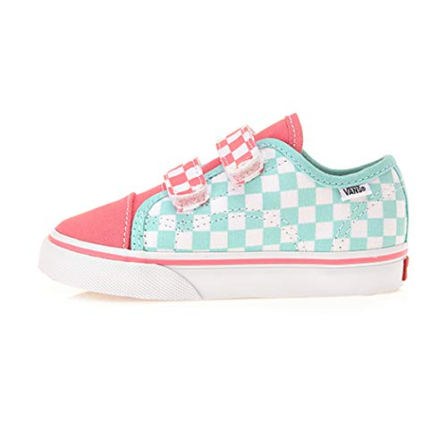 Vans Style 23 V (Checkerboard) Blue Tint/Strawberry Pink Toddlers 6]()