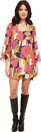 Trina Turk Women's Bonita La Paz Flores Silk Georgette Dress, (Silk Georgette Dress)