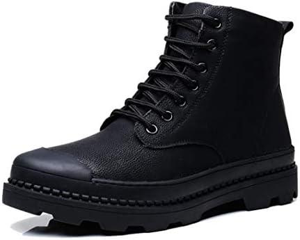 [スポンサー プロダクト][Dong] 冬靴 マーティンブーツ メンズ ショートブーツ 編み上げ レザー 加工 脱ぎ履きやすい 厚底 クッション性 カジュアル 通勤用 アウトドア バイクブーツ 防水 おしゃれ 秋靴 マーティンブーツショートブーツ